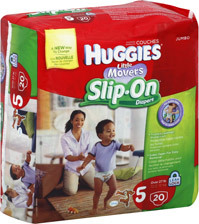 Huggies Little Movers Slip-On Diapers Size 5
