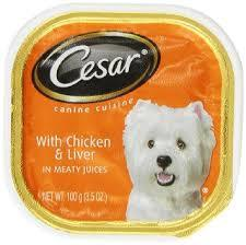 Cesar Wet Dog Food with Chicken & Liver in Meaty Juices, 3.5 oz