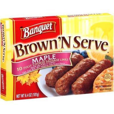 Banquet Brown 'N Serve Maple Sausage Links, 6.4 oz, 10 count