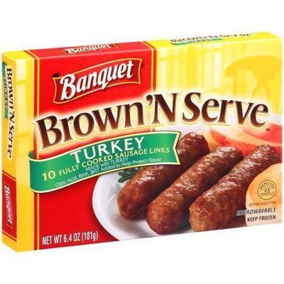 Banquet Brown 'N Serve Turkey Sausage Links, 6.4 oz, 10 count