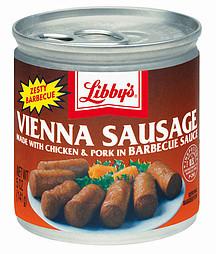 Libby's: Vienna Sausage w/Chicken & Pork In Barbecue Sauce, 5 Oz