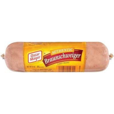Oscar Mayer Liver Sausage Braunschweiger, 8 oz