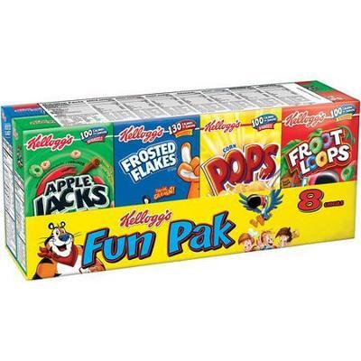 Kellogg's Assorted Cereal Fun Pack, 8 ct