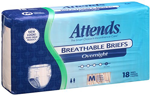 Attends breathable briefs, overnight