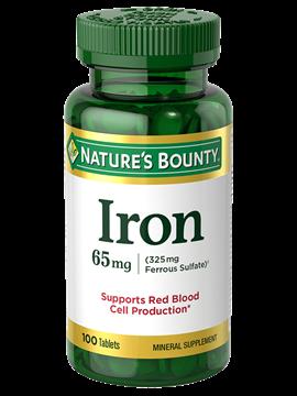 Nature's Bounty® Iron. 65 mg