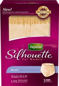 Depend Silhouette Briefs, Diapers for Women