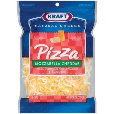 Kraft Natural Cheese: Pizza Mozzarella & Cheddar Shredded Shredded Cheese, 8 Oz