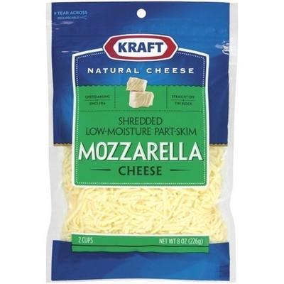 Kraft Natural Cheese: Mozzarella Low-Moisture Shredded Shredded Cheese, 8 Oz