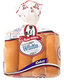 Aunt Millies White Hot Dog Buns