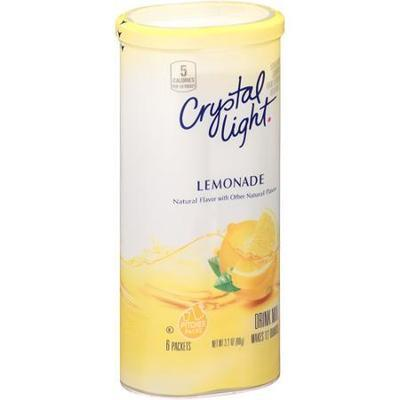 Crystal Light Lemonade Sugar Free Soft Drink Mix, 6 Two Qt Packets