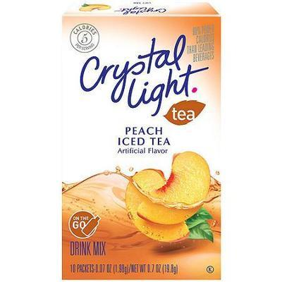 Crystal Light Peach Tea Drink Mix On The Go, 10ct