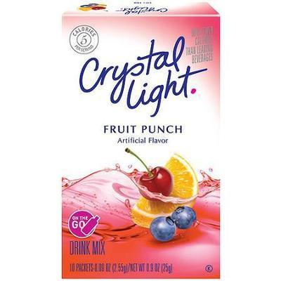 Crystal Light On The Go Fruit Punch Drink Mix, 10ct