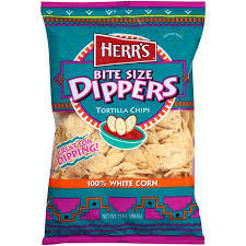 Herr's: Bite Size Dippers Tortilla Chips, 13.5 Oz