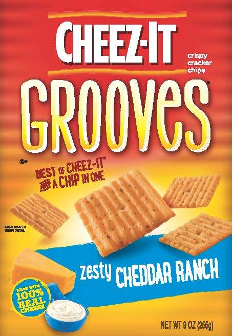 Cheez-It Grooves™ Zesty Cheddar Ranch baked cracker chips