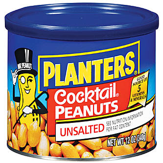Planters cocktail peanuts, unsalted 12oz