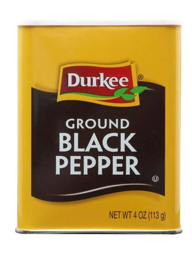 Durkee Black Ground Pepper Seasoning - 4 oz