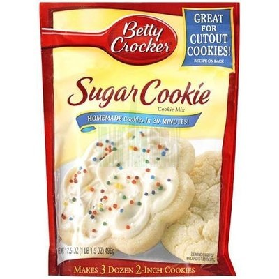 Betty Crocker Cookie Mix, Sugar, 17.5 oz.