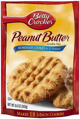 Betty Crocker Cookie Mix,Peanut Butter, 17.5 oz.