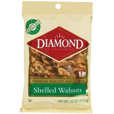 Diamond Of California: Shelled Walnuts, 4 Oz