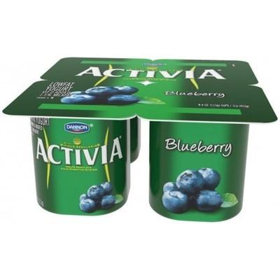 Activia Blueberry Lowfat Yogurt, 4ct