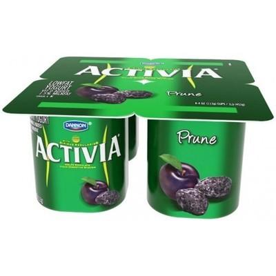 Activia Prune Lowfat Yogurt, 4ct
