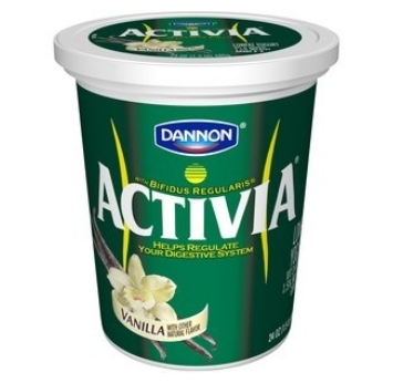 Activia Vanilla Lowfat Yogurt, 24 oz