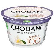 Chobani Simply 100 Vanilla Blended Non-Fat Greek Yogurt, 5.3