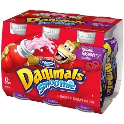 Danimals: Rockin' Raspberry 3.1 Fl Oz Smoothie, 6 Ct
