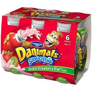 Danimals: Strikin' Strawberry-Kiwi 3.1 Fl Oz Smoothie, 6 Ct