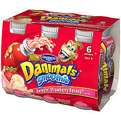Danimals: Swingin' Strawberry-Banana 3.1 Fl Oz Smoothie, 6 Ct