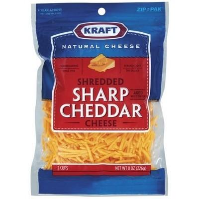 Kraft Finely Shredded Sharp Cheddar Cheese, 8 oz