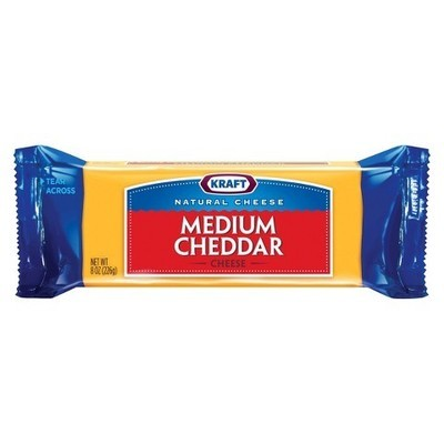 Kraft Natural Cheddar Mild Cheese Chunk, 8 oz