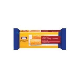 Kraft Natural Cheese: Cheddar Extra Sharp Chunk Cheese, 8 Oz