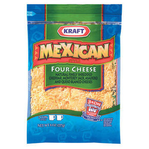 Kraft Natural Cheese: Mexican Style Four Cheese Finely Shredded Shredded Cheese, 8 Oz