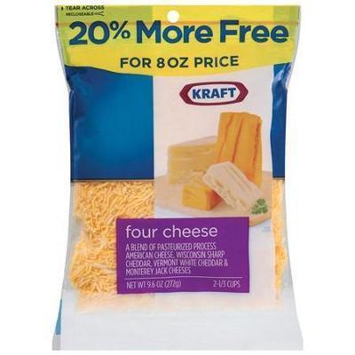 Kraft Natural Shredded Four Cheese,8 oz