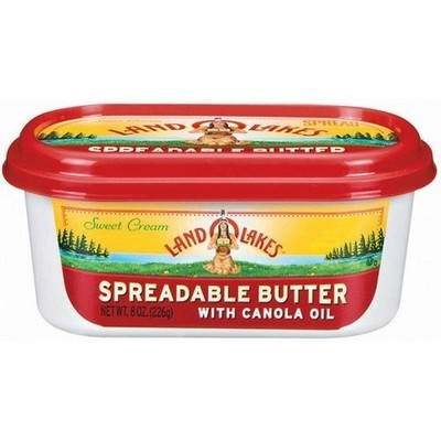 Land O Lakes Spreadable Butter with Canola Oil, 8 oz