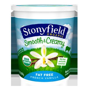 Stonyfield Farm Organic Lowfat Vanilla Yogurt, 32 oz