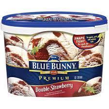 Blue Bunny Premium Double Strawberry Ice Cream, 1.75qt