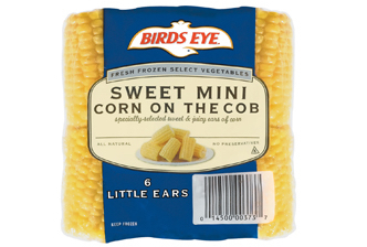 Birds Eye Corn, 6 Little Ears, Corn on the Cob