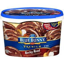 Blue Bunny: Premium Rocky Road Ice Cream, 1.75 Qt