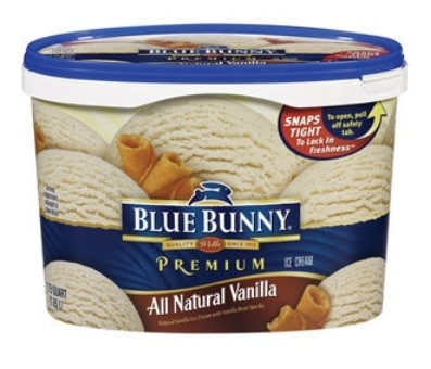 Blue Bunny Premium All Natural Vanilla Ice Cream, 1.75q