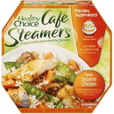 Healthy Choice: Asian Inspired Cafe Steamers Sweet Sesame Chicken, 10.3 Oz