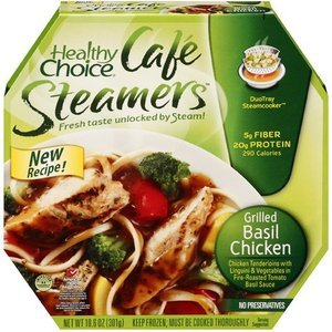 Healthy Choice: Cafe Steamers Grilled Basil Chicken, 10.5 Oz