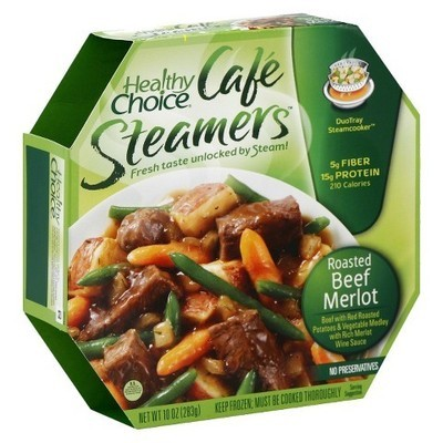 Healthy Choice: Cafe Steamers Roasted Beef Merlot, 10 Oz