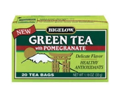 Bigelow Green tea bags, with pomegranate 20ct