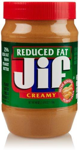 JIF Creamy Peanut Butter - Reduced fat, 18 oz