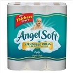 Angel Soft, 12 2-Ply Unscented Regular Rolls toilet paper, 12 Ct