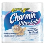 Charmin Ultra Soft Double Roll Toilet Paper, 4ct