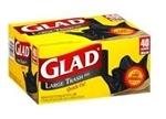 Glad Quick-Tie 30 Gal Trash Bags, 40 ct