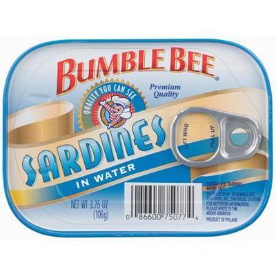 Bumble Bee: In Water Sardines, 3.75 Oz